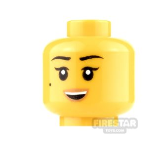 Product shot LEGO Mini Figure Heads - Female - Smile and Scowl