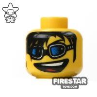 Product shot LEGO Mini Figure Heads - Glasses And Big Grin