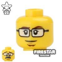 Product shot LEGO Mini Figure Heads - Glasses and Goatee