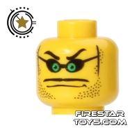 Product shot LEGO Mini Figure Heads - Glasses and Green Eyes