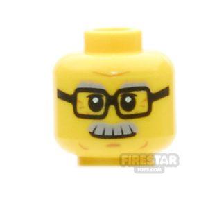 Product shot LEGO Minifigure Head Grandfather Moustache