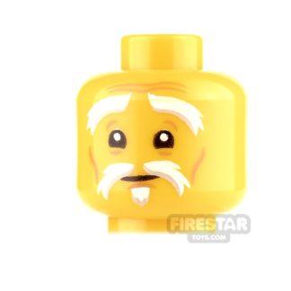 Product shot LEGO Mini Figure Heads - Gray Eyebrows and Goatee