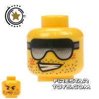 Product shot LEGO Mini Figure Heads - Grin And Sunglasses