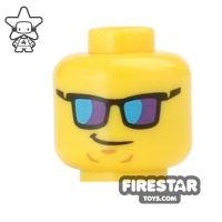 Product shot LEGO Mini Figure Heads - Mirror Sunglasses