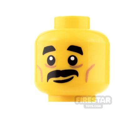 Product shot LEGO Mini Figure Heads - Moustache and Smile