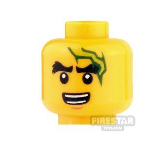 Product shot LEGO Mini Figure Heads - Ninjago - Lightning Bolt