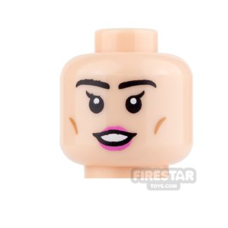 Product shot LEGO Mini Figure Heads - Pink Lips and Smile