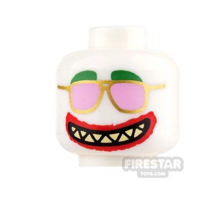 Product shot LEGO Mini Figure Heads - Pink Sunglasses and Grin