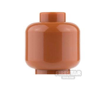 Product shot LEGO Mini Figure Heads - Plain Dark Orange