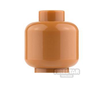 Product shot LEGO Mini Figure Heads - Plain Medium Dark Flesh