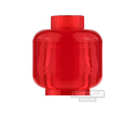 Product shot LEGO Mini Figure Heads - Plain Trans Red