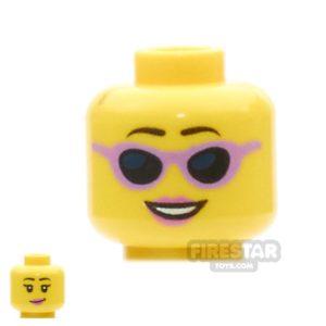 Product shot LEGO Mini Figure Heads - Baby - Smiling