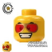 Product shot LEGO Mini Figure Heads - Red Sunglasses