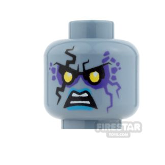 Product shot LEGO Mini Figure Heads - Ruina - Open Mouth Angry / Evil Grin