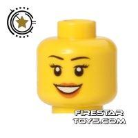 Product shot LEGO Mini Figure Heads - Smile - Peach Lips