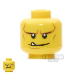 Product shot LEGO Mini Figure Heads -  Smile with Tooth / Frown
