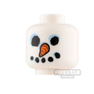 Product shot LEGO Mini Figure Heads - Snowman