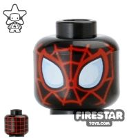 Product shot LEGO Mini Figure Heads - Spider Man - Black