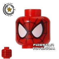 Product shot LEGO Mini Figure Heads - Spider Man