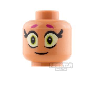 Product shot LEGO Mini Figure Heads - Starfire - Large Eyes and Smile / Scared