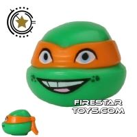 Product shot LEGO Mini Figure Heads - Teenage Mutant Ninja Turtles - Michelangelo Smile