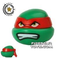 Product shot LEGO Mini Figure Heads - Teenage Mutant Ninja Turtles - Raphael Bared Teeth
