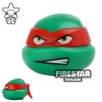 Product shot LEGO Mini Figure Heads - Teenage Mutant Ninja Turtles - Raphael Scowl