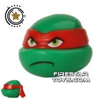 Product shot LEGO Mini Figure Heads - Teenage Mutant Ninja Turtles - Raphael