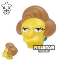 Product shot LEGO Mini Figure Heads - The Simpsons - Edna Krabappel