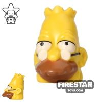 Product shot LEGO Mini Figure Heads - The Simpsons - Grandpa Simpson