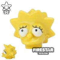 Product shot LEGO Mini Figure Heads - The Simpsons - Lisa Simpson Worried