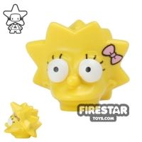 Product shot LEGO Mini Figure Heads - The Simpsons - Lisa Simpson with Bow
