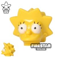 Product shot LEGO Mini Figure Heads - The Simpsons - Lisa Simpson