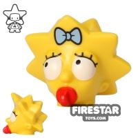 Product shot LEGO Mini Figure Heads - The Simpsons - Maggie Simpson