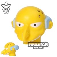 Product shot LEGO Mini Figure Heads - The Simpsons - Mr Burns