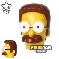 Product shot LEGO Mini Figure Heads - The Simpsons - Ned Flanders