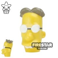 Product shot LEGO Mini Figure Heads - The Simpsons - Professor Frink