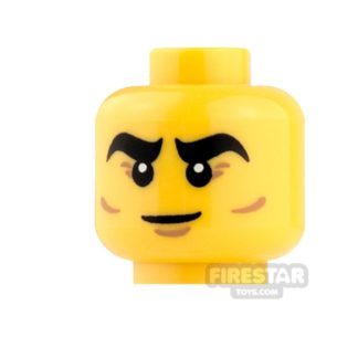 Product shot LEGO Mini Figure Heads - Thick Eyebrows and Cheek Lines