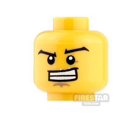 Product shot LEGO Mini Figure Heads - Wide Eyebrows and Open Grin