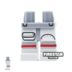 Product shot LEGO Mini Figure Legs - Astronaut Spacesuit