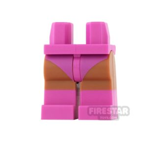 Product shot LEGO Mini Figure Legs - Batgirl - Dark Pink Boots