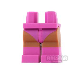 Product shot LEGO Mini Figure Legs - Batgirl - Dark Pink Boots