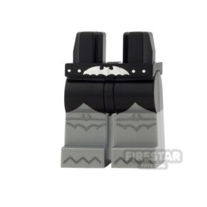 Product shot LEGO Mini Figure Legs - Batman - Black With Silver Bat Belt Buckle
