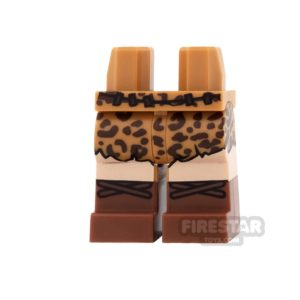 Product shot LEGO Mini Figure Legs - Batman - Caveman Belt and Skirt