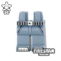 Product shot LEGO Mini Figure Legs - Belt and Steel Boot Caps