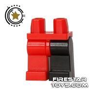 Product shot LEGO Mini Figure Legs - Black And Red