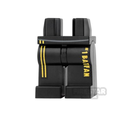 Product shot LEGO Mini Figure Legs - Black - Batfan