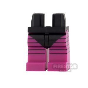 Product shot LEGO Mini Figure Legs - Black Swimsuit with Magenta Legs