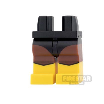 Product shot LEGO Mini Figure Legs - Black Vulcan