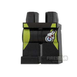 Product shot LEGO Mini Figure Legs - Black With Pressure Gauge